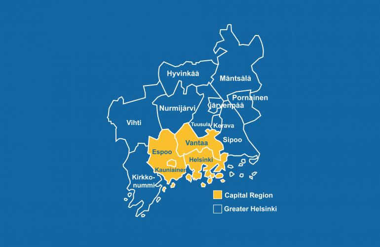Greater Helsinki Municipalities And Their Neighborhoods